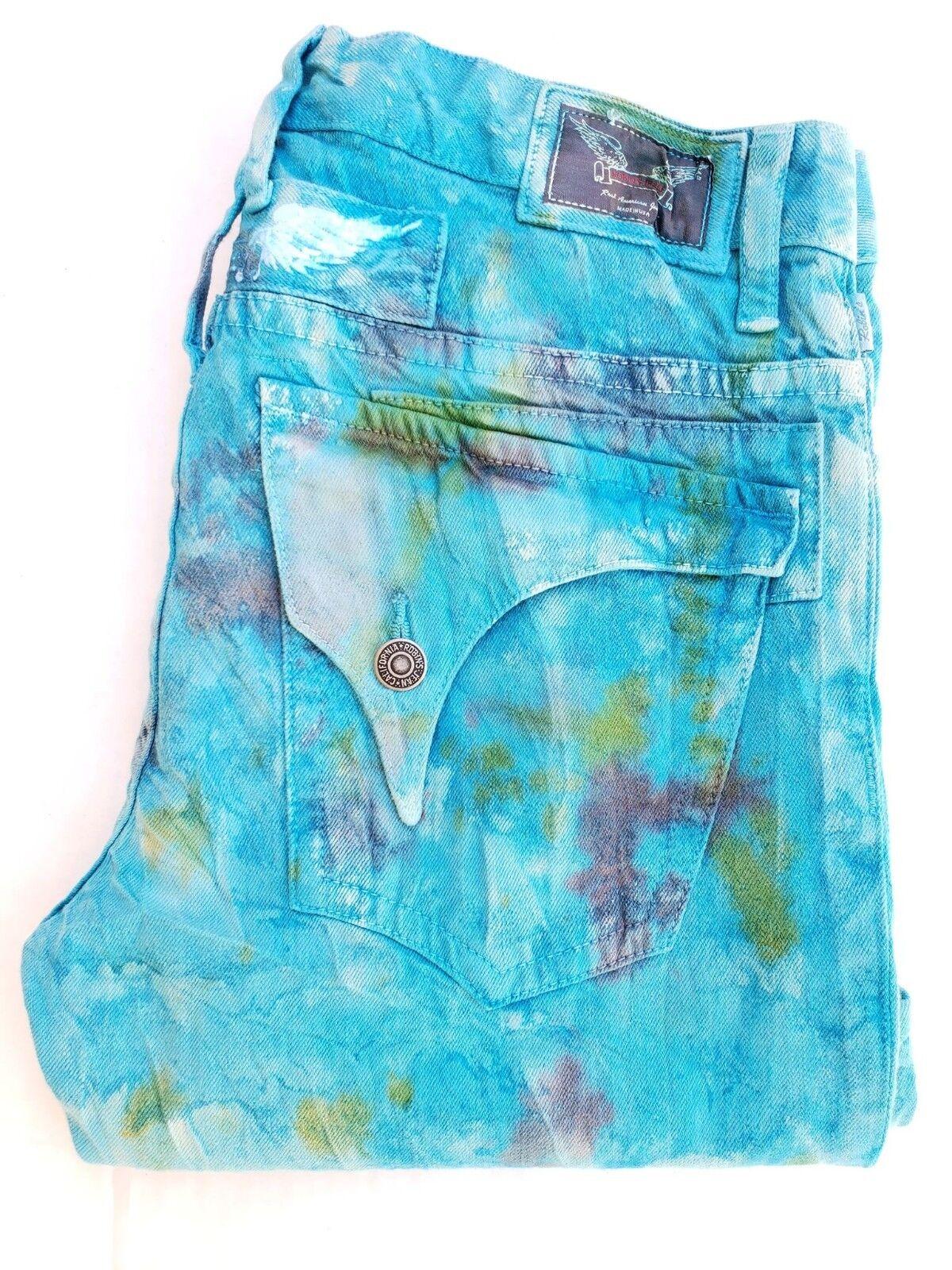 Neu Herren ROTKEHLCHEN Jeans Größe 38 Gerades Bein Jeans Blau Barcelona Waschen