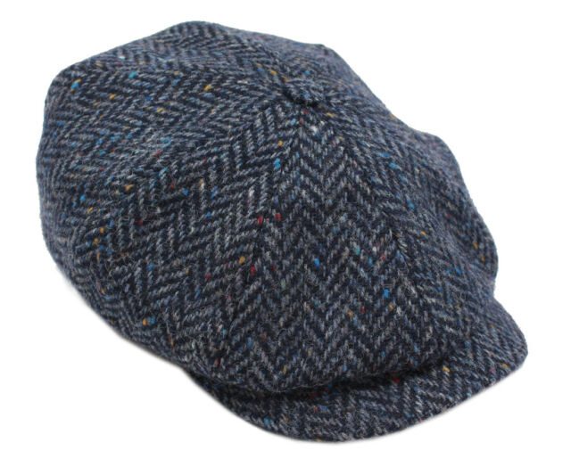 c657dba8969 Buy Tweed Cap 8 Piece Navy Herringbone Hanly of Tipperary Small ...