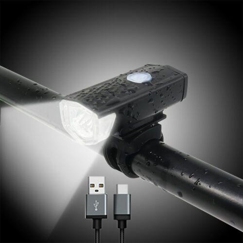 Linterna USB recargable bicicleta luz delantera lámpara bicicleta faro ciclismo