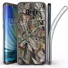 For Samsung Galaxy S8 Plus,Tri Max Transparent Full Body Case Cover Hunter Camo