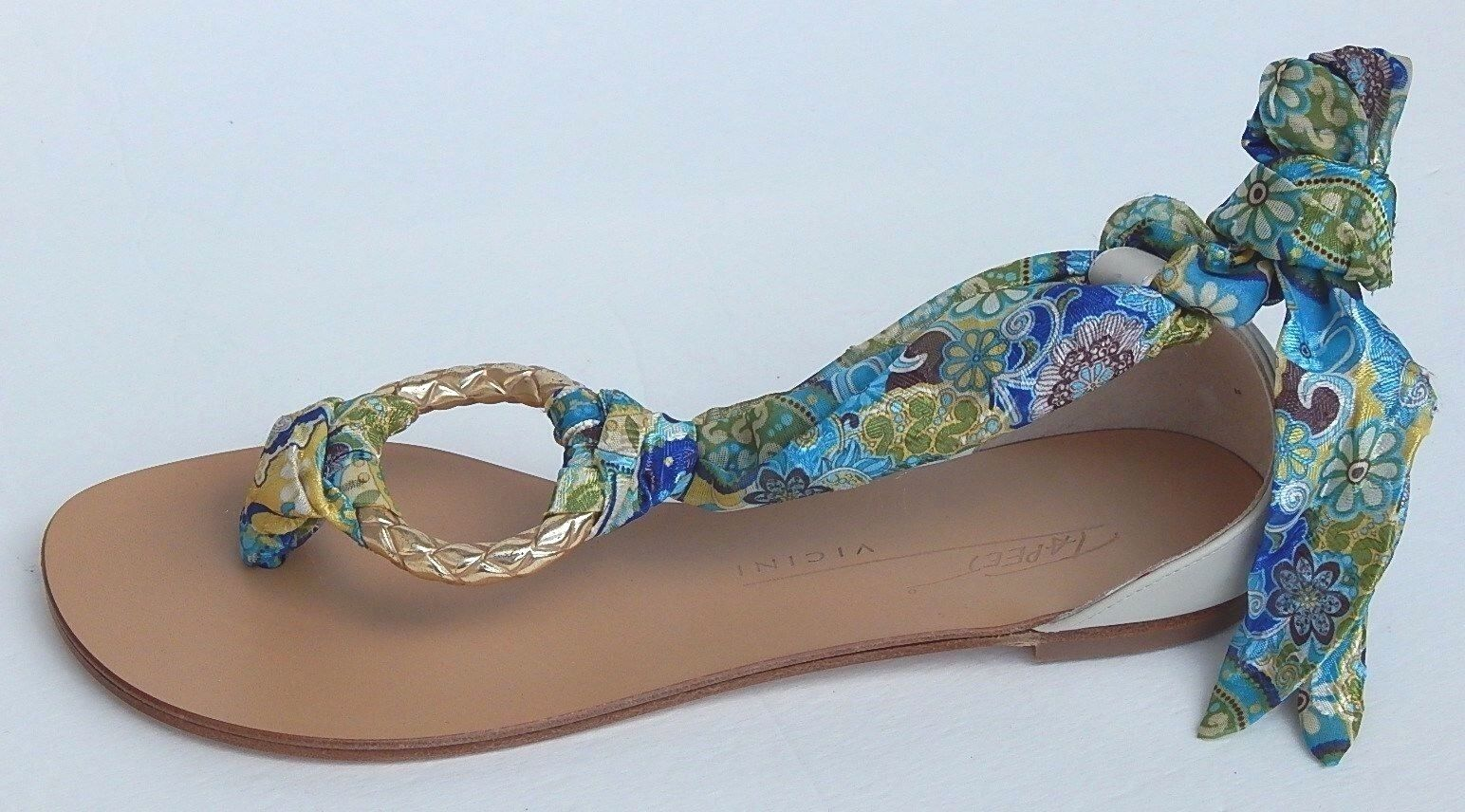 VICINI JANIS MADE IN ITALY THONGS SANDALS sz 38 NEW AUTHENTIC