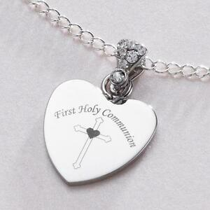 pendant necklace large communion personalized christina silver products first