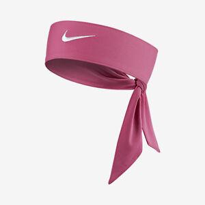 New Womens Nike Head Tie Dri Fit 2.0 Pink Headband Tennis Running ... b2d3d23f21