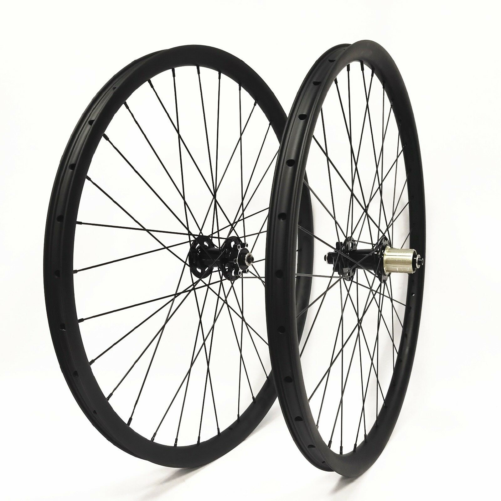 27.5 inch Carbon wheelset 35mm width with boost hub 15110 and 12148 Thru Axle