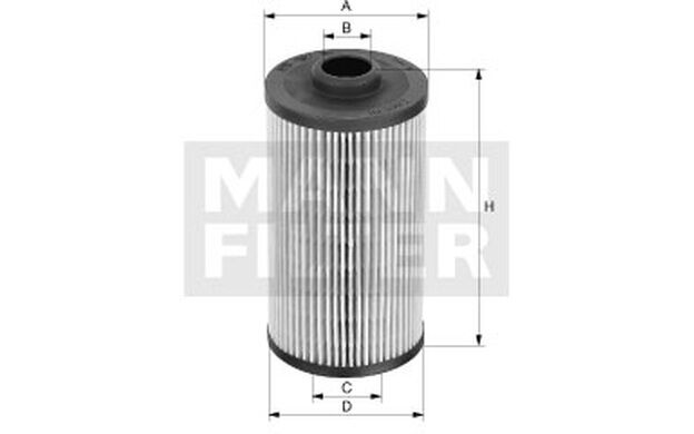 MANN-FILTER Filtro de aceite RENAULT MASTER OPEL MOVANO NISSAN TERRANO HU 825 x