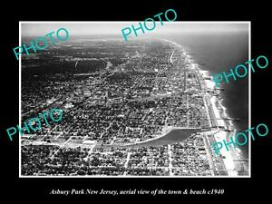 OLD-HISTORIC-PHOTO-OF-ASBURY-PARK-NEW-JERSEY-AERIAL-VIEW-OF-THE-BEACH-c1940-2