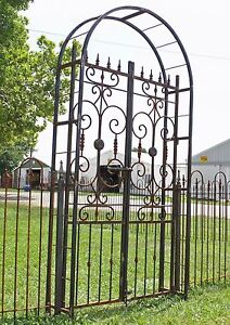 Image Is Loading Really Metal Country French Garden Arbor Gate