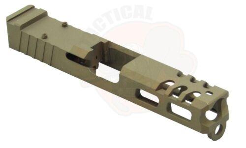 Glock 19 Slide with RMR Serrations /& Windows Ports Gen 3 Bronze