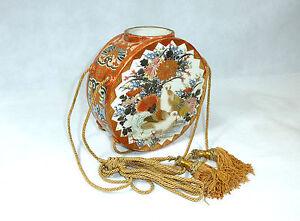 Internationale Antiq. & Kunst Modestil Seltene Wandvase Vase Mit Kordeln Kutani Japan Meiji Um 1900 Wasserdicht Antiquitäten & Kunst StoßFest Und Antimagnetisch