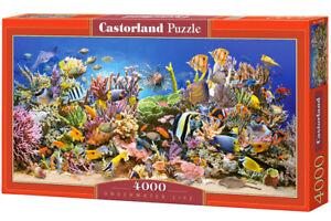 Gros-Puzzle-4000-pieces-La-vie-sous-marine-138x68cm-neuf-de-marque-Castorland