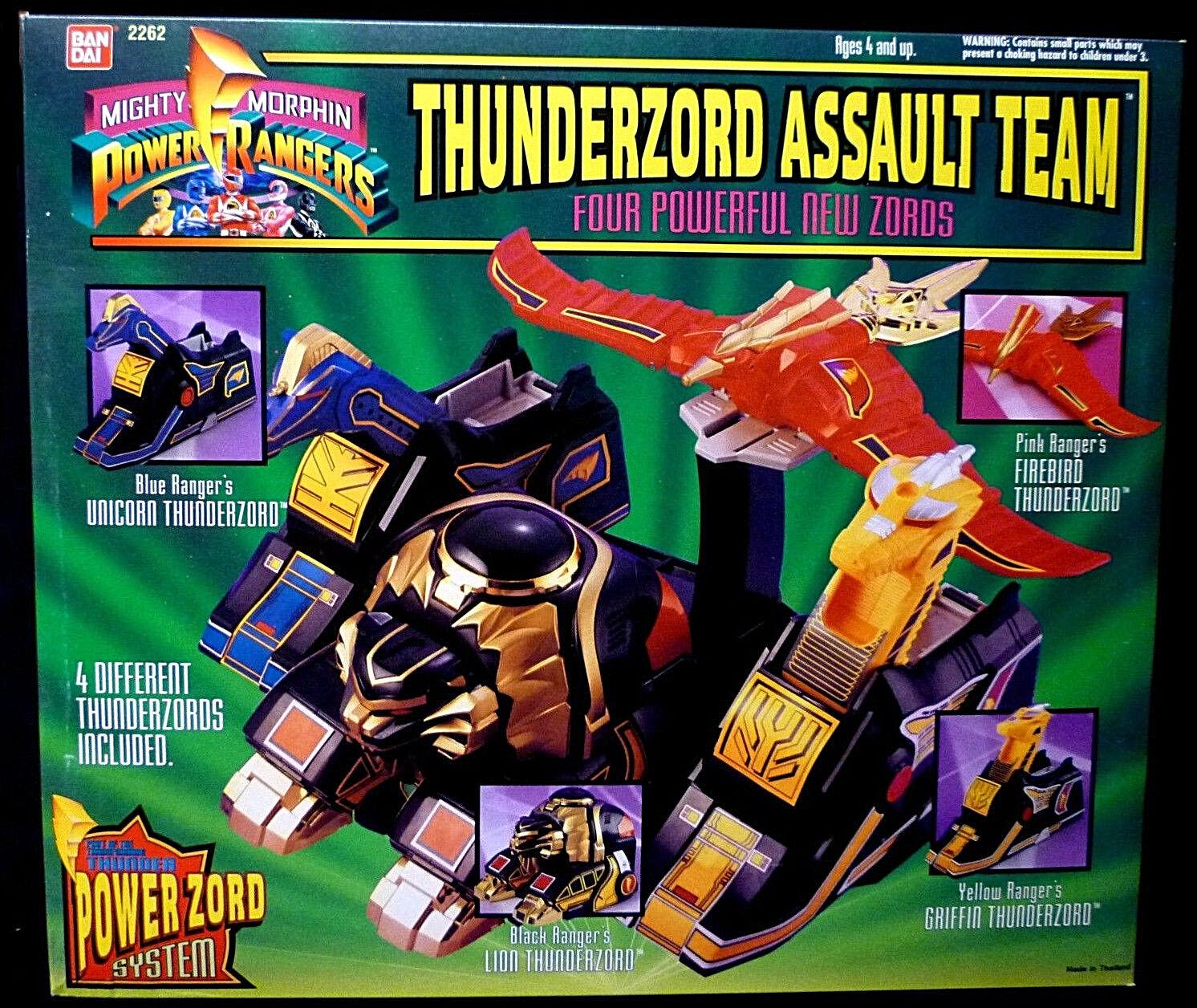 Bandai Morphin Power Rangers Thunderzord Assault Team Set of 4 Zords MIB 1994