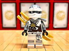 Lego Ninjago Zane Mini Figure day of the departed outfit 2 gold katana