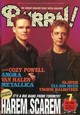 Burrn! Heavy Metal Magazine July 1998 Japan Harem Scarem Van Halen Angra Slayer