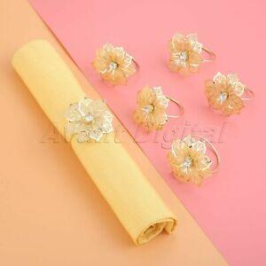 6Pcs Napkin Rings Holders Buckle Table Serviette Holder Wedding Dinner Decor