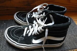 VANS shoes youth Black White Boys size 4.0 girls size 5.5  84ddb454f