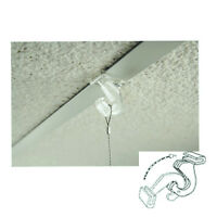 Clear Plastic Drop Ceiling Hooks With Hinge - Grid Ceiling Hanger - 100 Pieces