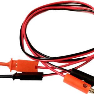 P1042 4 mm Bananenstecker auf 10 mm Aligator Clip Adapter Sonden Messleitung ♤