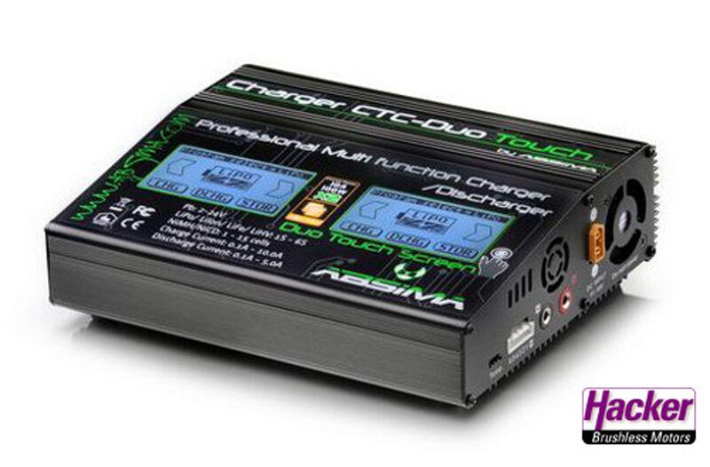 Cargador Absima Ctc Duo Touch Carga Lenta 61005007 2x 100Watt 2x 10A