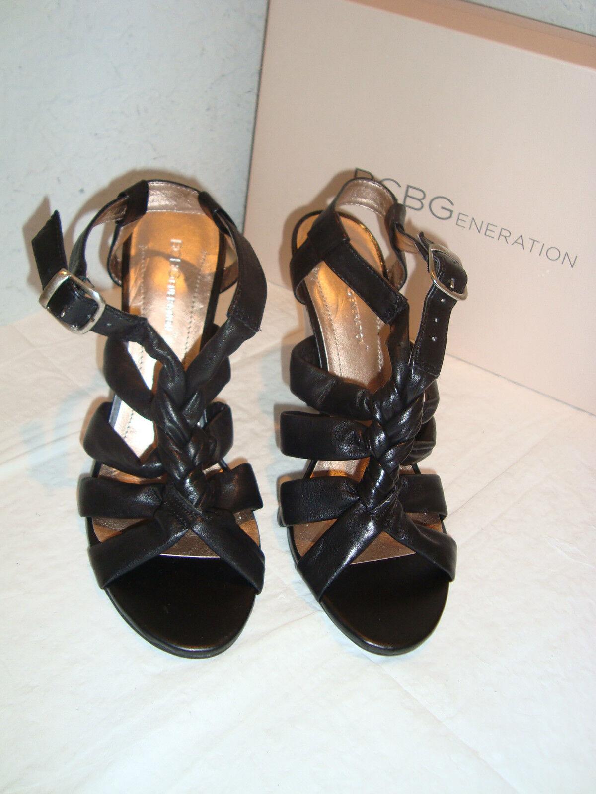 Nuevo Bcbgeneration Bcbg Para Mujer Negro Negro Negro Sandalias Zapatos 8 medio de Napa natural  promociones de equipo