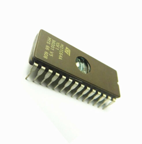 2 PCS M27C64A-10F1 M27C64A IC EPROM UV 64KBIT 100NS 28CDIP NEW