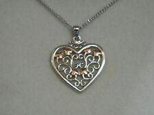 Clogau Silver & 9ct Rose Welsh Gold Kensington Pendant RRP £119.00