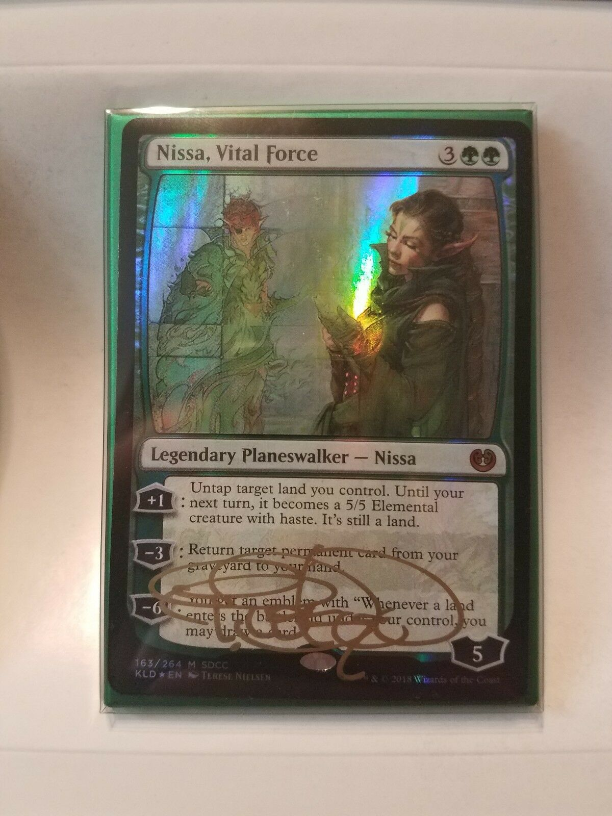 SDCC 2018 Hasbro Excl. Magic Timeless Legends Card Set SIGNED SIGNED SIGNED by Terese Nielsen 11b3aa