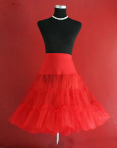Lady-50-039-s-RED-Underskirt-Rock-n-039-Roll-Petticoat-TUTU-26-034-FREE-P-amp-P