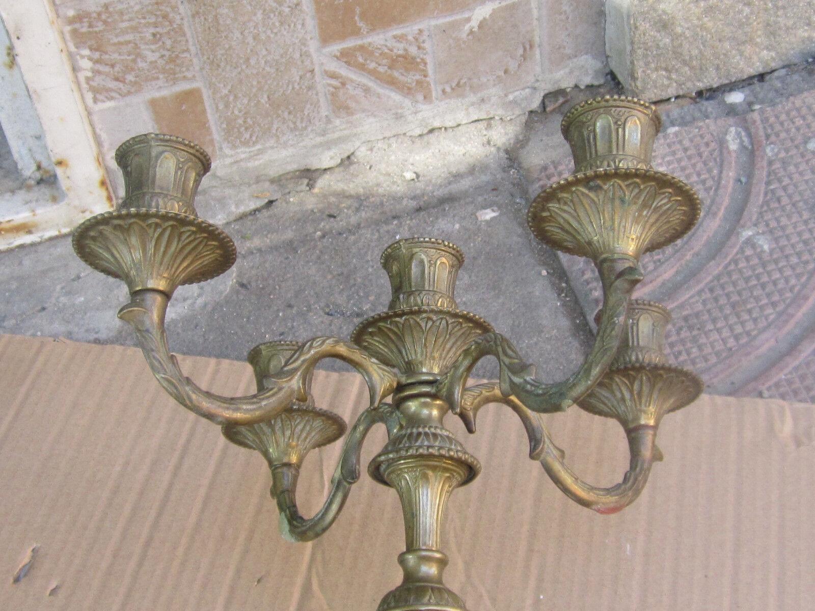 RARE ANTIQUE French Bronze Candelabra Candelabra Candelabra Candle Holder  19th C. a0a846
