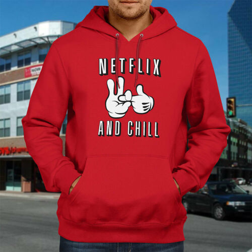 Netflix And Chill Naughty Funny Humorous Awesome Hooded Sweater Pullover Hoodie