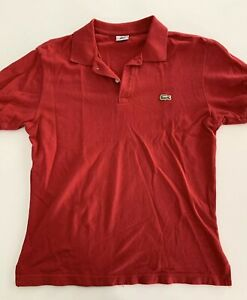 Vintage-LACOSTE-Men-s-Red-Short-Sleeve-Polo-Shirt-Size-Large