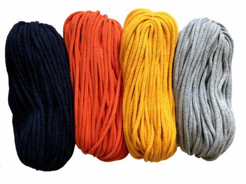 cotton knitting yarn 5mm cord rope zpaghetti zpagetti crochet macrame 50m 200m