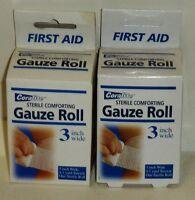 2 Boxs Of Coralite Sterile Comfort Gauze Roll 3 Inch Wide 4.1 Yard Stretch Nip