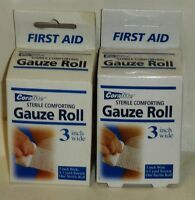 2 Boxs Of Coralite Sterile Comfort Gauze Roll 3 Inch Wide 4.1 Yard Stretch Nip