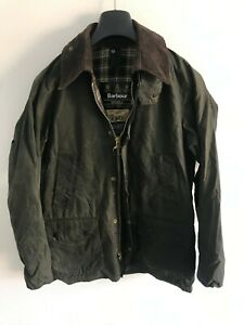 Mens-Barbour-Bedale-wax-jacket-Green-coat-36in-size-Small-Extra-Small-XS-S