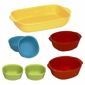 stoneware-ceramic-Corningware-CW-7pc-color-bake-set-microwave-serve-paypal
