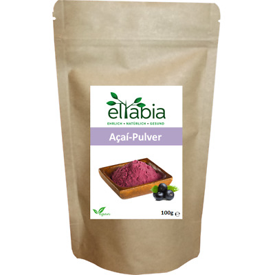 Acai Pulver Berry Beere powder Acaipulver 100g Kleines Pack Vegan eltabia