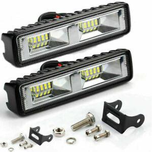 48W-16-LED-12V-24V-Work-Light-FLOOD-Light-Off-Road-ATV-SUV-Boat-For-Jeep-Truck