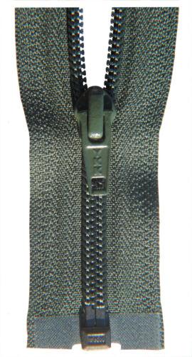 YKK 1 Weg Reißverschluß Kunststoffspirale 5 mm olive grün 50-80 cm