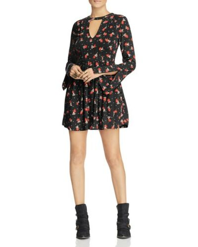 NWT Free People Tegan Printed Mini Dress Retail $98