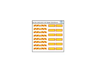Ho//1:87 dis0453 warntafeln de poliestireno para entre y hummer