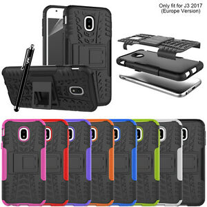 new product 395d6 45164 Details about Samsung Galaxy J3 2017 Heavy Duty Armour Tough ShockProof  Builder Case Cover