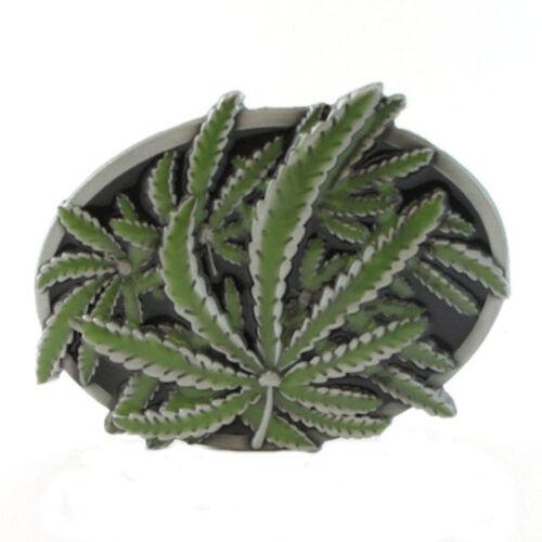 WEED LEAVES BELT BUCKLE HEMP LIFE 420 STONER POT LEGALIZE IT LEAF FIT SNAP BELT