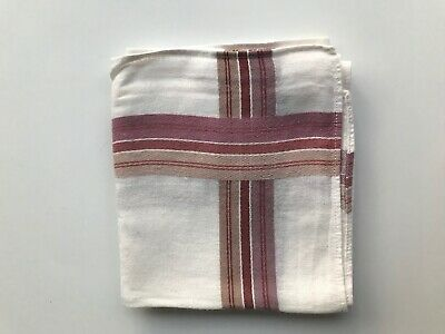 Stofftaschentuch Taschentuch Herren Tuch Weiss Mit Rot/braunem Rand Ca 38x38 Cm Schnelle WäRmeableitung