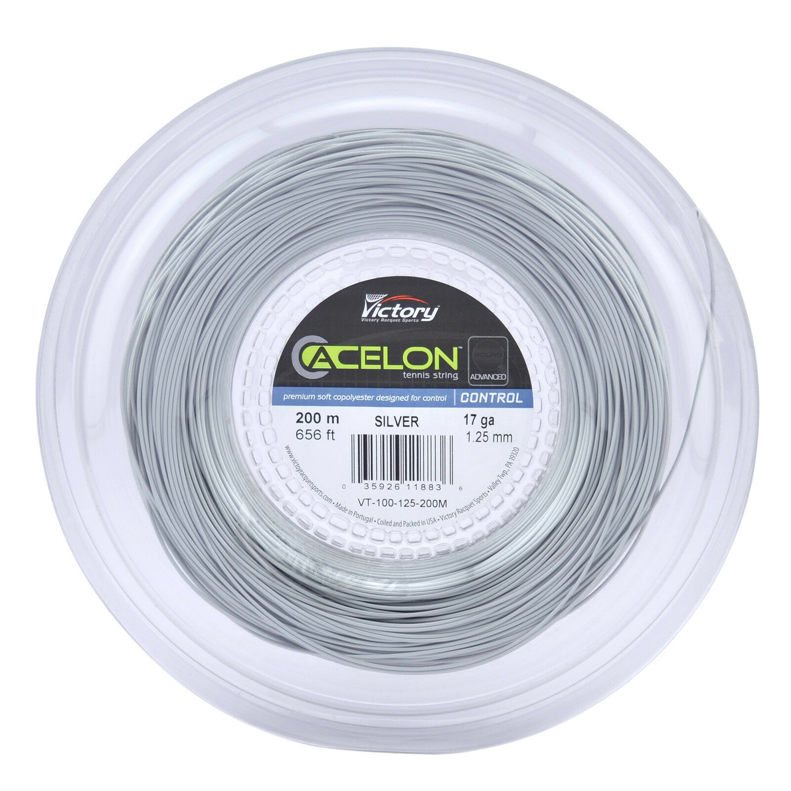ACELON ADVANCED COPOLY 17g TENNIS STRING REEL - 200M 656FT - Reg