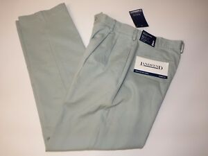 Lands-039-End-Classic-Chinos-men-pants-Pale-Blue-Sage-100-cotton-style-84758
