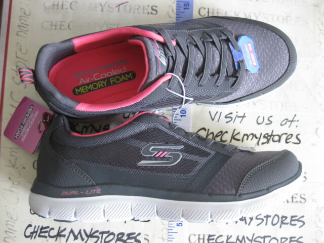 Skechers Women s Flex Appeal 2.0 New Image Air Cooled Memory Foam Sneakers Shoes