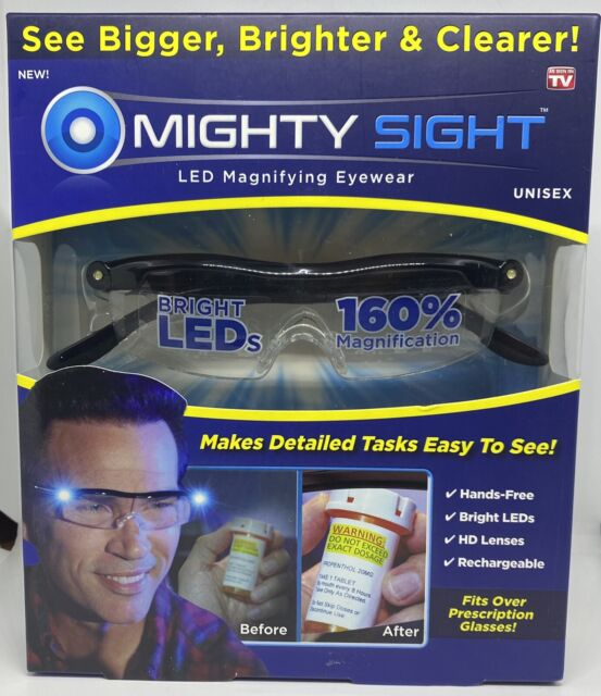 Mighty Sight LED Magnifying Eye wear Reduces Eye Strain As Seen on TV