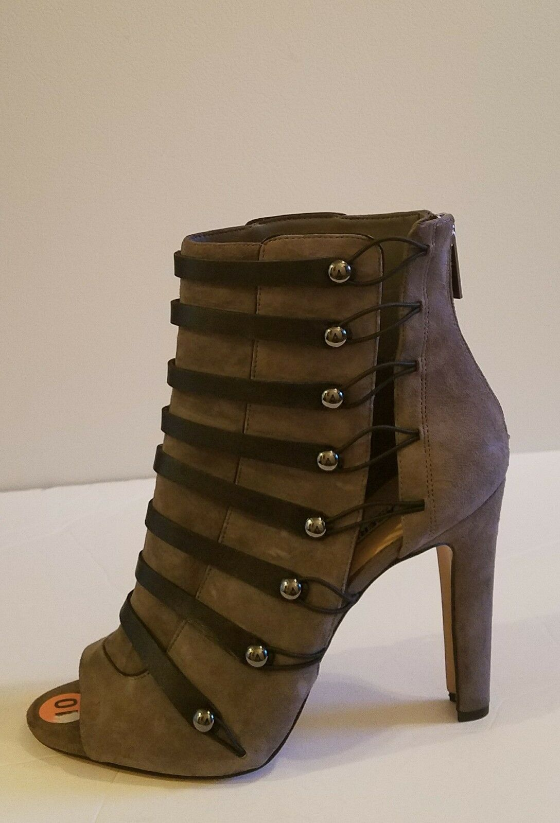 Karl Lagerfeld Paris  Gaby Booties Sz 10 Gray