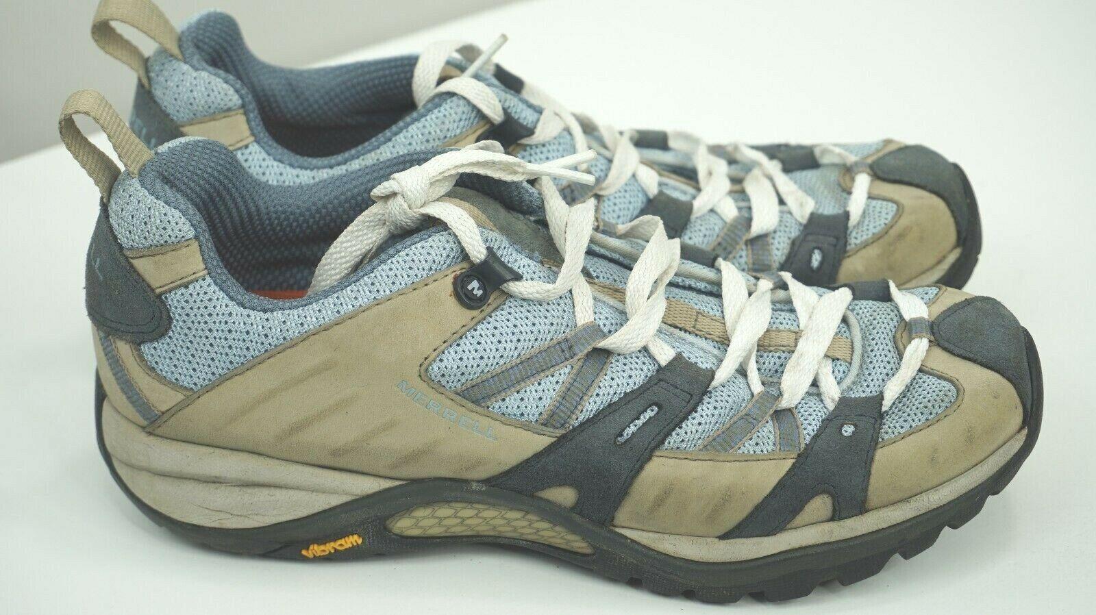 Womens Merrell Continuum Hiking shoes Sneakers 7.5 QForm Air Cushion Vibram bluee