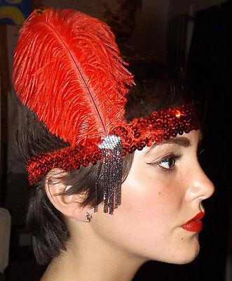 Deluxe Sequin Flapper Headband Costume Headpiece Charleston Gatsby Moll 1920's